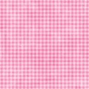 Shabby Wedding- Gingham Paper Pink