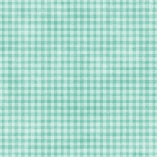 Shabby Wedding- Gingham Paper Teal