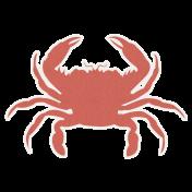 Hollister- Crab Sticker Red