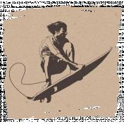 Hollister- Surfer Paper Scrap