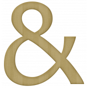 Classic Christmas- Wooden Ampersand