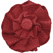 Classic Christmas- Burlap Flower 2