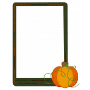 Pumpkin Patch Stitched Frame