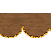 Pumpkin Patch Wood Scalloped Border