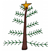 Winter Star Topped Christmas Tree