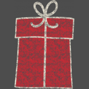 Christmas Chalkboard Decal Square Red Gift