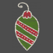Christmas Chalkboard Decal Oblong Ornament