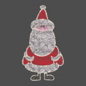 Christmas Chalkboard Decal Santa