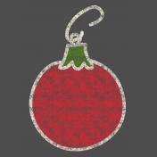 Christmas Chalkboard Decal Bulb Ornament