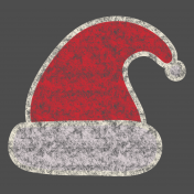 Christmas Chalkboard Decal Santa Hat