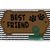 Paw Print Best Friends Wooden Photo Holder