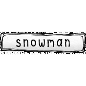 Winter Sticker Label Snowman