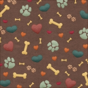 Shelter Pet Dog Pattern Paper