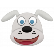 Shelter Pet White Dog Element