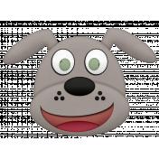 Shelter Pet Gray Dog Element