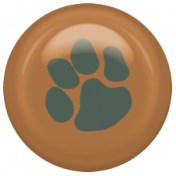 Shelter Pet Brown Paw Print Brad