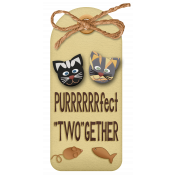 """Shelter Pet PURRRRfect """"TWO""""gether Tag"""