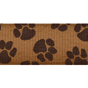 Shelter Pet Brown Paw Print Ribbon