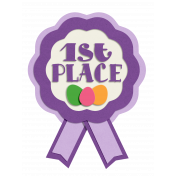 Easter 1st Place Award Ribbon Element
