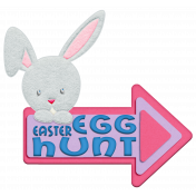 Easter Bunny Egg Hunt Arrow Element