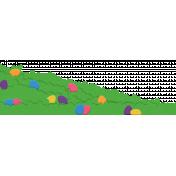 Easter Grassy Hidden Egg Hill Page Border