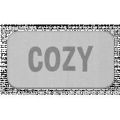 Cozy Grayscale Chipboard Label