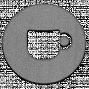 Grayscale Chipboard Mug Chip