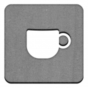 Grayscale Chipboard Square Mug Chip