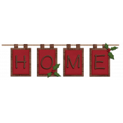 Home For The Holidays- Red Home Banner Element