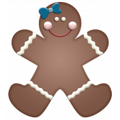 Home For The Holidays- Gingerbread Girl Element