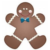 Home For The Holidays- Gingerbread Boy Element