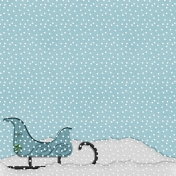 Home For The Holidays- Snowy Sleigh Paper