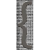 Treasured- Black Bracket Element