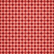 Treasured- Red Argyle Paper