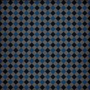 Treasured- Blue Argyle Paper