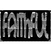 Rectangle Cut File- Faithful