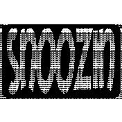 Rectangle Cut File- Snoozin