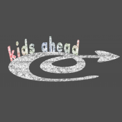 Kids Ahead- Colorful Chalk Arrow Element