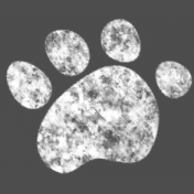 Kids Ahead- Chalk Paw Print Element
