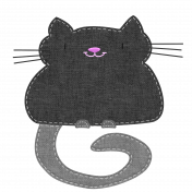 Oh Kitty Kitty- Stitched Burlap Layered Kitty Template 1