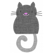 Oh Kitty Kitty- Stitched Burlap Layered Kitty Template 4