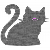 Oh Kitty Kitty- Stitched Burlap Layered Kitty Template 5