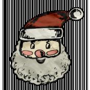 Retro Holly Jolly- Santa Face Element