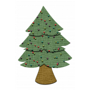 Lighted Canvas Christmas Tree Element