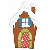 Christmas Gingerbread House Element