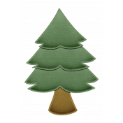 Stitched Fabric Christmas Tree Element