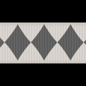 Mardi Gras- Black & White Ribbon Element