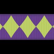 Mardi Gras- Purple & Green Ribbon Element