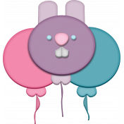 Easter- Bunny Balloon Element