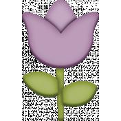 Easter- Purple Spring Tulip Element